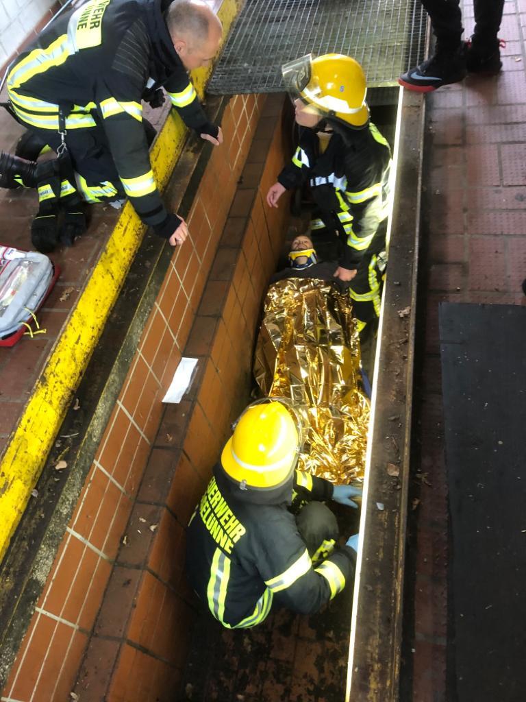Sanitätsübung der Feuerwehr